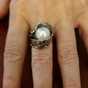 Sterling 925 silver and cultured freswater pearl